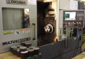 2005 Okuma Multi-Axis Cnc Turning Machine Multus B300-W