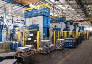 Line containing 4 pcs of crank presses SMERAL LKT 250