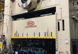 Danly Model S4-4500-2100 600 Ton Straight-Side, Double-Crank Stamping Press