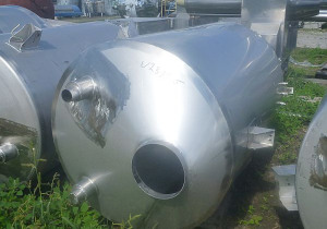 1600 L Vertical Stainless Steel Silos For Powders With Conical Bottom