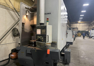 "Okuma V60R Cnc Vertical Lathe, Fanuc 31Imb, 15"" Chuck, 27.56"" Swing, 12 Position Turret, 40 Hp, 2000 Rpm, 14.57""X/25.98""Z Travels"