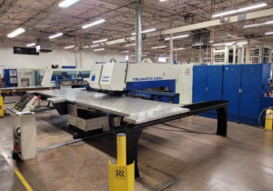 TRUMPF TC600L-1600 CNC TURRET/LASER COMBINATION FABRICATION CENTER W/2400 WATT RESONATOR