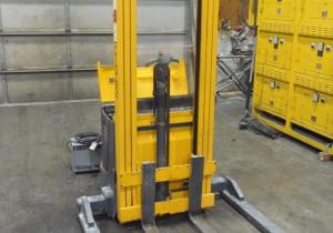 2500 Lb. Pallet Stacker Fork Lift, Multiton Ejb 25-206, 17' Lift Height, Good Batteries, 2001
