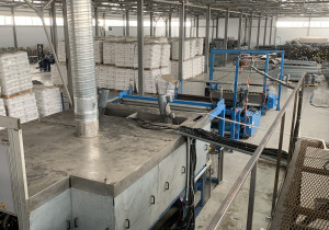 Extrusion line for the production of uniaxial and biaxially oriented polypropylene nets