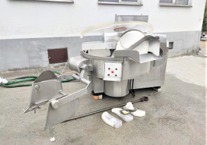 Seydelmann K326U bowl cutter equipped with lifter for 200-liter bins made entirely of stainless steel