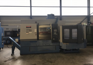 Used Mazak FJV 250 CNC Vertical Machining Centre with palletcharger