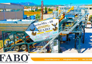 Fabo TURBOMIX-60 MOBILE CONCRETE MIXING PLANT