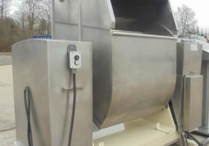 400 Lb. Stainless Steel Roller Bar Mixer, Tilt Discharge