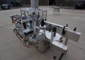 Aesus Systems Étiqueteuse automatique «Eco Wrap Prism» sensible à la pression, sensible à la pression, en acier inoxydable