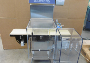 Garvens S2 inline checkweigher with reject device, reject container and printer