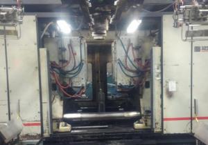Machine de moulage par soufflage à double tête d'accumulateur Uniloy Milacron T-2000 de 25 lb d'occasion
