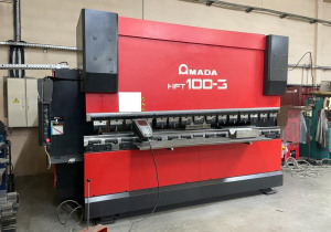 AMADA HFT 100-3 press brake of 3m by 100t year 2007.