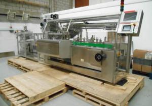 Used Promatic Romaco AS300 Cartoning machine / cartoner - Horizontal