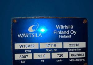 Wartsila W18V32 generator sets in excellent condition