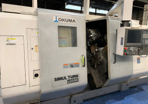 2005 OKUMA LU300 TURNING CENTER WITH TWIN TURRETS