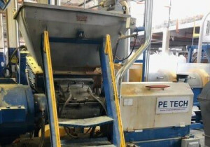 Used Pe Tech 150Mm 11:1 L/D Single Screw Pelletizing Line With Banbury-Style Kneader