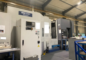 Mori Seiki SH 8000 machining center, year 2000, it is a 6 pallets 4 Axis spindle 15000 Rpm and magazine 150 matrix tools,