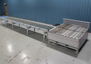 Used Ligmatech Model Optimat ZHR 01/L/045 Boomerang Return Conveyor