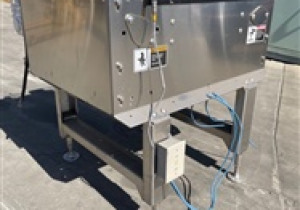 """One used Intralox Model ARB 90-degree Transfer Station, transfer area is 21"""" x 21"""", 1 h.p. drive, 230/460/60/3"""
