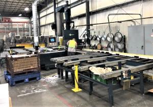 "8"" X 24"" Granco Clark Precision Saw For High Accuracy Aluminum Extrusion Cutoff"