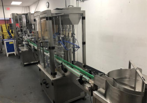 4-Head Piston Filler With Capper, Neck Bander And Steam Tunnel