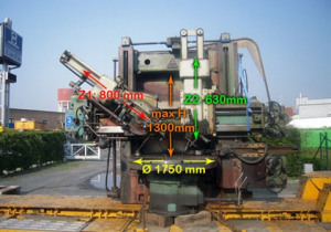 Used Tos  SK 16 Ø 1750 x H 1300 mm Vertical turret lathe