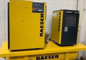 KAESER AirCenter SK26   92CFM, 110PSI, TB26 Dryer, 100 Gal Tank