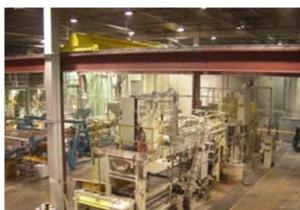 Ligne d'extrusion de feuille de 54 pouces de large Cincinnati Milacron avec équipement en aval