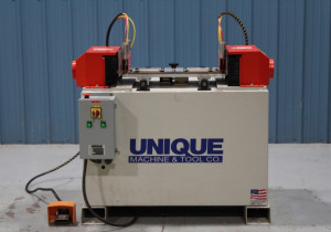 Used Unique Model 310 Double Spindle Coping Machine