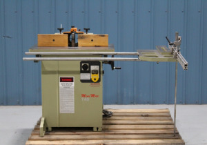 Used Mini Max Model T40 Single Spindle Shaper with Sliding Table Attachment