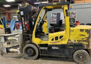 15,500 Hyster S155Ft Forklift With Cascade Roll Clamp