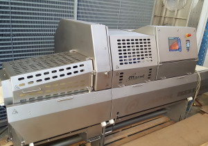 Marel  IPM3 X 400 Slicer and Portion Cutter with scale conveyor