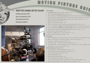 Sony SONY F65 RS/VF;