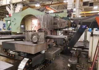 Weldon dual turret center drive CNC lathe