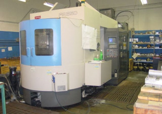"TOYODA A-550 FANUC 15M, 12K RPM, (2) 21.6"" PLLTS, CAT 50, 4-AXIS, 60 ATC"