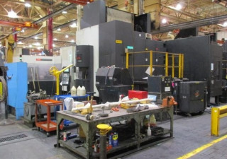 "Mazak Integrex e1060 V/8 Horizontals, 5-Axis, 6 Available! 2005 39.4"" Pallets, CAT50, 74""x42""x53"" Travels, 10K RPM, 50HP, Mazatrol 640m Ctrl, Coolant,"