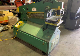 One – Used Piranha 90 Ton Hydraulic Ironworker, P-90, 1997