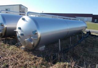 Unused 5,000 Gallon Stainless Steel Vertical Tank