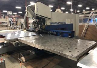 25 Ton Trumpf Tc-500 / 1300, Cnc Turret Punch Press
