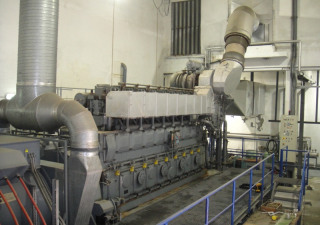 3.4 MW HFO Power Plant MAN 8L 32 40