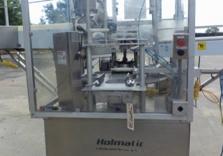 Holmatic QC-80 Rotary Cup Filler/Sealer/Lidder at Wohl Associates