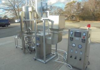 FLP-5 Stainless Lab Fluid Bed Granulator/Pelletor/Coater/Dryer at Wohl Associates