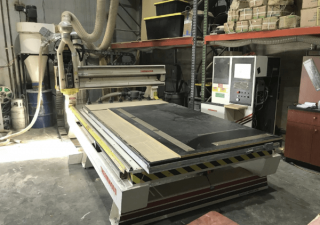 Thermwood Model CS 45-510 CNC Router, 5'x10′ Table, 11HP Spindle, 7 Station Auto Tool Changer