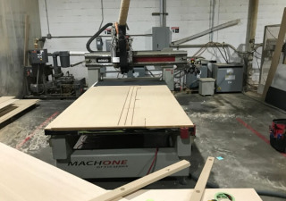 Komo Model VR510 Mach 1 GT Solution CNC Router, 5'x10′ Table, 16HP Spindle, Drill Bank, 40HP Vacuum Pump, New in 2008