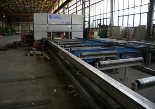 BEHRINGER-VERNET HBP 530/1104G-NC1-BM CNC Sawing- and Drilling Plant