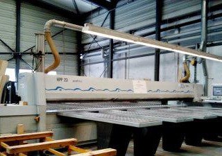 HOLZMA - BARGSTEDT-PROFI HPP23/65/65/X-Automatic panel sizing beam saw, rear loading with vacuum