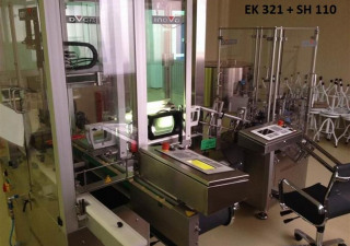 Inova/Optima SH 110/1, EK 321 Labelling plant for disposable syringes (PFS) with denest/inspection/plunger assembly