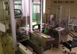 Inova/Optima SH 110/1, EK 321 Labelling plant for disposable syringes (PFS) with denest/inspection/plunger assembly