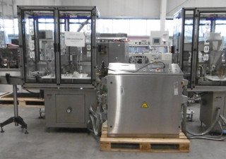 SERAC GAIA filling and closing line for vials containing liquids and powder
