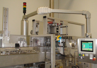 Siebler + Göring 5000/160E vertical four side seal strip packer for effervescent tablets